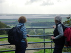 006.Tricia and Joyce admire the view over Brantinghamthorpe.