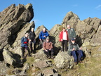 015.Sometimes called the Howitzer at 405m the highest  peak  of the two summits. of  Helm Crag
