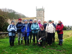 009.Group pose at Brantingham Church.