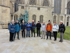 001 A group meet to walk the Minster Way.